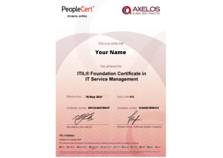 Itil4 Certificate